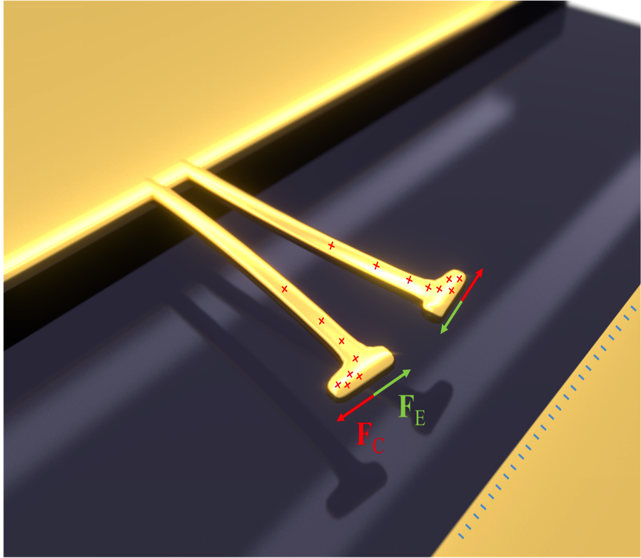 Artistic view of a suspended optical nano-antenna